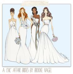 Brooke Hagel: Bridal Illustrations {A Chic Affair}
