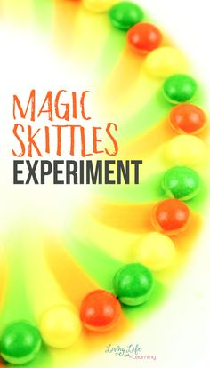 Candy, rainbows and science all mix together to make a beautiful, simple Skittles experiment, perfect for kids. Check out how it works. I love simple science experiments! Kindergarten Science Experiments, Easy Science Experiments, Science Activities For Kids, Elementary Science, Science Ideas, Earth Science Lessons, Physics Lessons, Homeschool Science Curriculum, Homeschooling