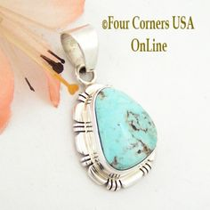 Four Corners USA Online - Dry Creek Turquoise Sterling Silver Pendant by Robert Concho Native American Indian Jewelry NAP-1495, $125.00 (http://stores.fourcornersusaonline.com/dry-creek-turquoise-sterling-silver-pendant-by-robert-concho-native-american-indian-jewelry-nap-1495/)