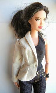 "Drafting a fitted jacket with shawl collar for the 11 1/2"" fashion doll. fashiondollstylist.blogspot.com"