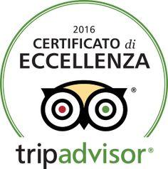 Anche quest'anno Tripadvisor ci ha premiato con il CERTIFICATO DI ECCELLENZA...