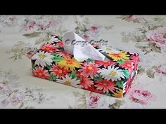 Tissue Box Cover sewing tutorial by Debbie Shore - YouTube
