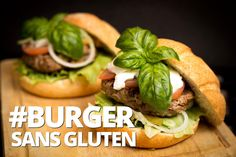 Burger faible en glucides et sans gluten