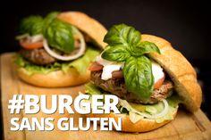 Burger faible en glucides et sans gluten