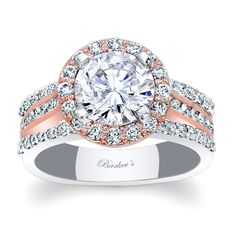 Two+Tone+Halo+Engagement+Ring+-+Two+Tone+Halo+Engagement+Ring