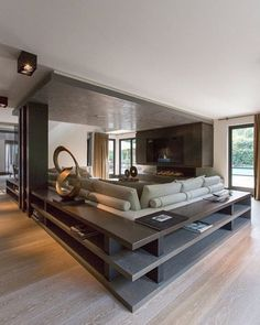 15 Modern Living Room Design Ideas to Upgrade your Home Style – My Life Spot Home Living Room, Living Room Designs, Living Room Decor, Living Spaces, Modern Living Room Design, Living Area, Kitchen Living, Home Interior Design, Interior Architecture