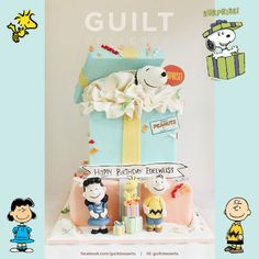 Snoopy Surprise Gift Box Cake