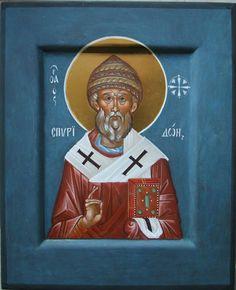 Saint Spyridon of Tremithus Religious Icons, Religious Art, Orthodox Icons, Christianity, Saints, Religion, Images, Byzantine, Santos