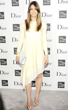 Jessica Biel from Stars at New York Fashion Week Spring 2014  Before her US Open date with hubby Justin Timberlake, the actress attended a swanky Dior soiree.