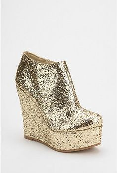 WANT!!! Deena & Ozzy Glitter Wedge Boot - $69 (Urban Outfitters)