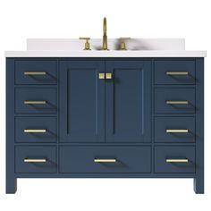 Single Sink Bathroom Vanity, Vanity Sink, Modern Bathroom, Bathroom Vanities, Bathroom Ideas, Bathrooms, Quartz Vanity Tops, Engineered Stone, Vanity Cabinet