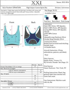 Sports Bra Tech Pack