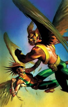 Hawkman and Hawkgirl by  Andrew Robinson
