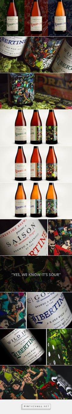 The Libertine Brewing Co. - Packaging of the World - Creative Package Design Gallery - http://www.packagingoftheworld.com/2016/05/the-libertine-brewing-co.html