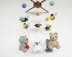 Amigurumi Sheep Baby Mobile : Colorful snails amigurumi baby mobile snail baby mobile nursery