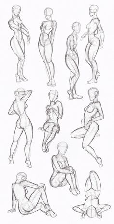 Female Body Drawing - Female Human Body Drawing to drawing poses Body Sketches, Drawing Sketches, Art Drawings, Sketching, Figure Drawings, Drawing Art, Cartoon Drawings, Drawing Techniques, Drawing Tips