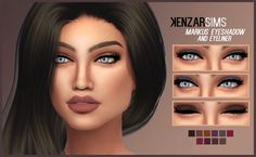 """kenzar-sims: """" Kenzar-Markus eyeshadow (and eyeliner) + Lipstick *Come in 9 colors (the lipstick ) and 10 colors (the eyeshadow) *Tag me if you use it I hope you like it ! ^-^ Download lipstick..."""