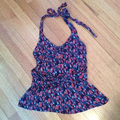 Anthro halter top! Anthropologie halter top.   Great for summer to pair with jeans or for work under a blazer. Anthropologie Tops
