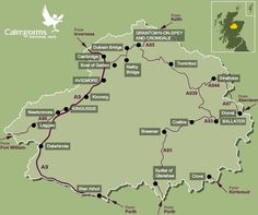 Cairngorms National Park Map - Scotland  (My <3 is in the Highlands)