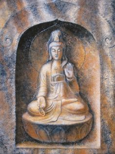 Kuan Yin in Niche by Sue Halstenberg