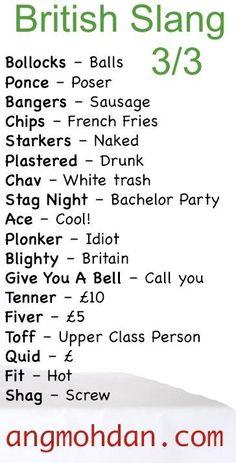 British Slang 3/3