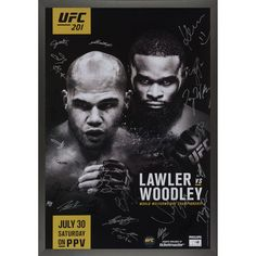 "Fanatics Authentic UFC 201 Lawler vs. Woodley Framed Autographed 27"" x 39"" 22-Signature Event Poster - $349.99"
