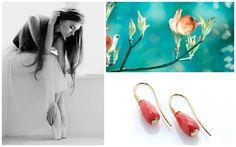 #Red Coral #Orecchini oro di Sciacca