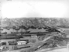 Darling Harbour in Sydney in 1904.
