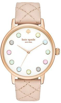 Kate Spade Metro Leather Ladies Pastel Dots Watch KSW1069 http://www.commentsjunkie.com/ladieswatches/Kate-Spade.shtml
