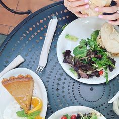Reposting Chiara Kean: Take me back to this incredibly turkey sandwich and the best pumpkin pie in the world🥧💜 . . . . #food #foodporn #love #turkey #pumpkin #pumpkinpie #foodphotography #foodie #lafood #happy #la #losangeles #usa #california #urthcafe #urthcaffe #salad #nails #pink #girl #girls #cafe #brunch #lunch