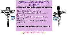 SEMANA DEL MIÉRCOLES DE CENIZA.PRIMERA SEMANA.LECTURAS DE LA BIBLIA, 40 DÍAS DE AYUNO Y ORACIÓN. PARTE 1. ҉҉LOURDES MARÍA BARRETO҉҉