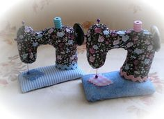 Sewing machine shaped pin cushion tutorial - I've got to make me one of these, they're beautiful