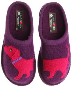 Haflinger Women's Doggy Violet Slipper:  These are what I wear every morning to keep my tootsies warm and happy. They are awesome.
