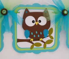 Owl baby shower banner its a boy banner by NancysBannerBoutique, $35.00