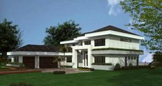 Contemporary Style House Plans - 5555 Square Foot Home , 2 Story, 5 Bedroom and 3 Bath, 3 Garage Stalls by Monster House Plans - Plan Florida House Plans, Coastal House Plans, Prairie House, Prairie Style Houses, Contemporary Style Homes, Contemporary House Plans, Florida Style, Florida Home, Best House Plans