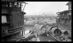 Bridge of Ten Thousand Ages and sampans, Foochow, c.1907