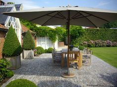 Belgian garden with brick patio