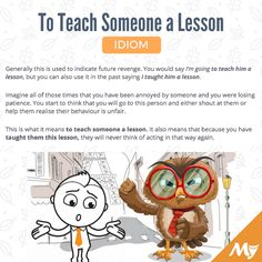 To Teach Someone a Lesson meaning