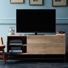 West Elm offers modern furniture and home decor featuring inspiring designs and colors. Create a stylish space with home accessories from West Elm. West Elm, Media Storage, Tv Storage, Entertainment Center, Industrial Storage, Modern Industrial, Industrial Design, Tv Cabinets, Tv Stands