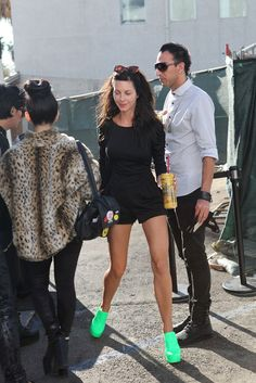 boom! have a look at those shoes! @ Los Angeles Fashion Week