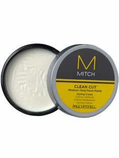 MITCH by Paul Mitchell Clean Cut Medium Hold/Semi-Matte Styling Cream Review: Hair Care: allure.com
