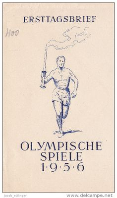 OLYMPIC GAMES 1956 MELBOURNE AUSTRALIA FDC DDR GERMANY OLYMPISCHE SPIELE