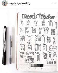 BuJo mood tracker NY theme by @explorejournaling on Instagram