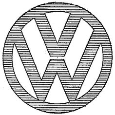 VW emblem registered as trademark in the US on this day in 1965. First use in 1950.  #VW #cars #logo #trademark #branding