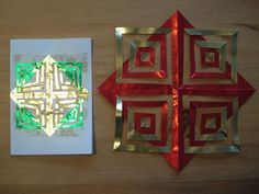 Show Tell Share: Crafting with 3rd Graders - Folded Foil Christmas Cards, part 2