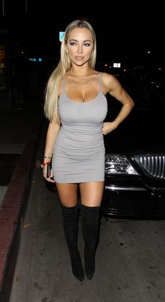 LINDSEY PELAS in Tight Dress at Bootsy Bellows in West Hollywood 10/25/2016