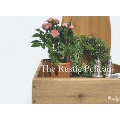 Rustieke keuken Decor, teruggewonnen hout Planter rustieke Home Decor,... (€93) ❤ liked on Polyvore featuring home, home decor, cedar planter box, cedar planters and cottage home decor