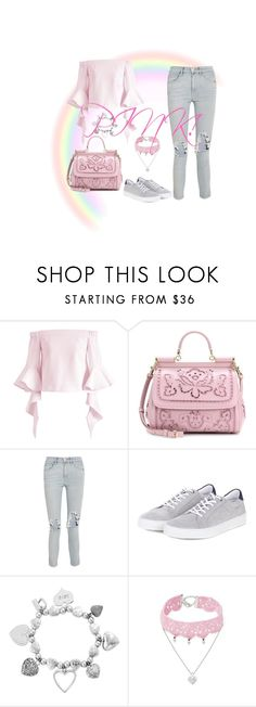 """Pink#1"" by ruxiaraces ❤ liked on Polyvore featuring Chicwish, Dolce&Gabbana, 3x1, Barbour, ChloBo and Design Lab"