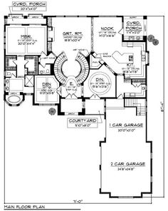 first floor plan of mediterranean traditional house plan 65886 Labeled Exterior of House first floor plan of mediterranean traditional house plan 65886 floor plans pinterest traditional house plans traditional house and traditional