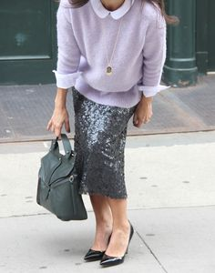 Featured on the Piperlime Style Feed! Winter Pastels + Sequins